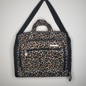 Travelon cheetah print large makeup bag